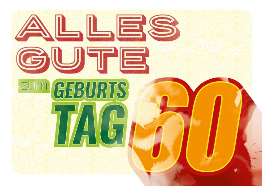 60. Geburtstag   Happy Birthday   Echte Postkarten online versenden