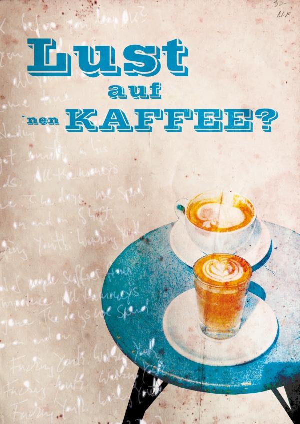 Lust auf Kaffee? | Einladung | Echte Postkarten online
