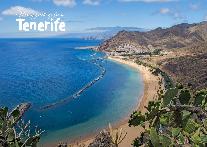 Many Greetings From Tenerife Vacation Greeting Cards