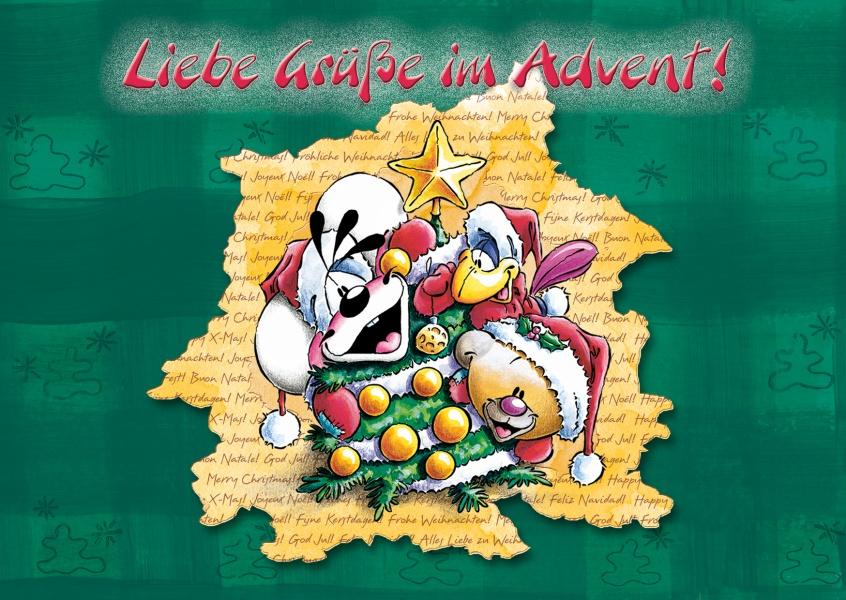 Liebe gr e im advent weihnachtskarten echte - Weihnachtskarten online versenden ...