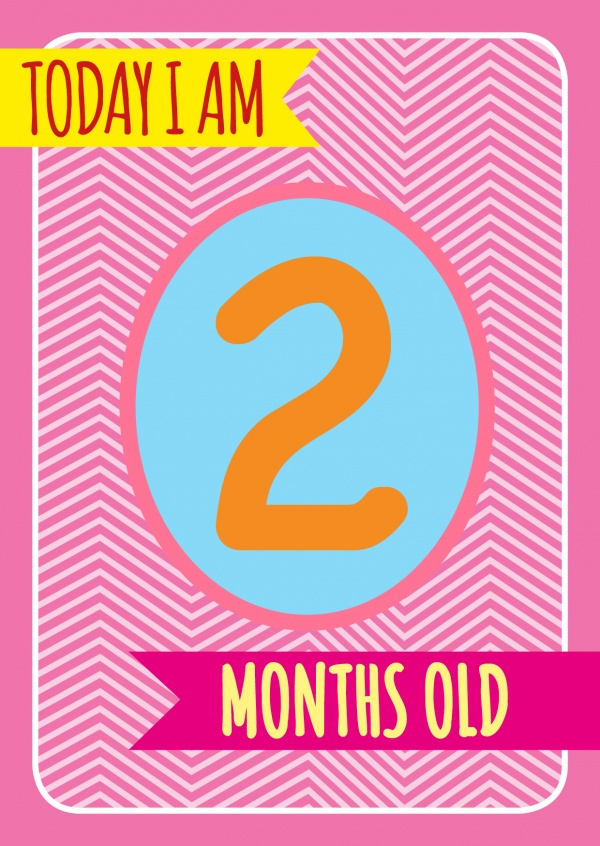 2 Months | Baby & Family Cards | Send real postcards online