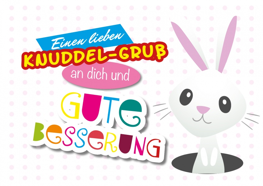 illustration hase gute besserung suess kindermotiv