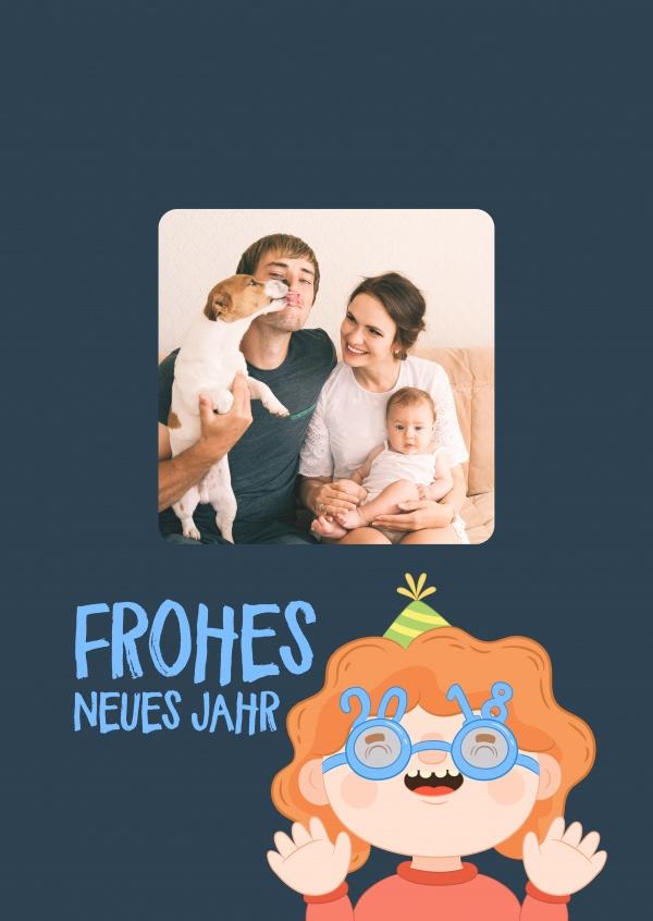 fr liches kind frohes neues jahr karten echte postkarten online versenden