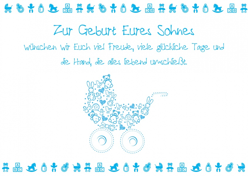 Geburtskarte Fuer Sohn Postkartenmotiv Online Versenden 4573 37