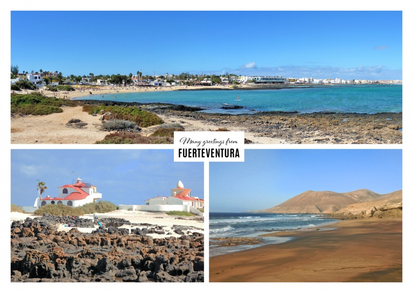 the variety of Fuerteventura | Vacation Greeting Cards ...
