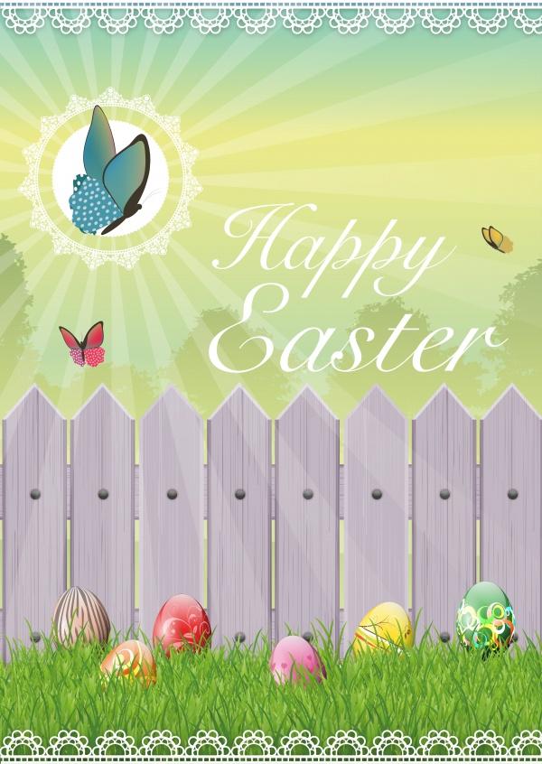 Happy easter garden happy easter send real postcards for Easter garden designs