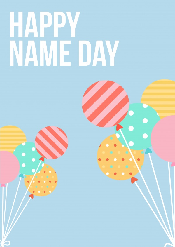 Happy Name Day Congratulation Cards Send Real