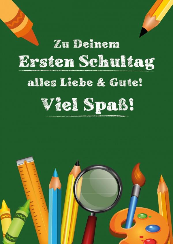 Zu Deinem ersten Schultag | Einschulung | Echte Postkarten ...