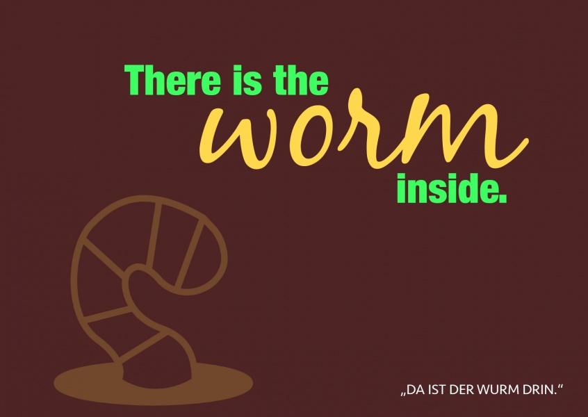 Worm Inside | Denglisch | Echte Postkarten online versenden