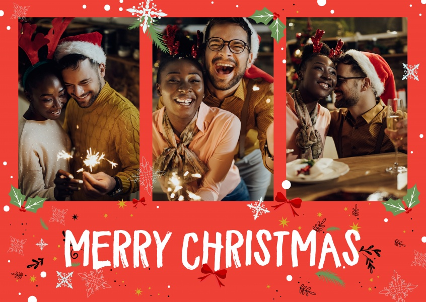 Red merry weihnachten echte postkarten online versenden for Weihnachtskarten online versenden