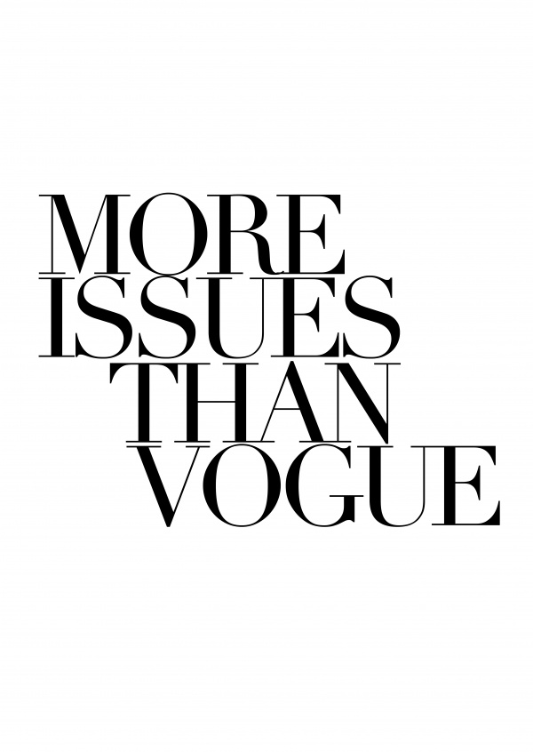 More Issues Than Vogue Statements Amp Quotes Cards Send