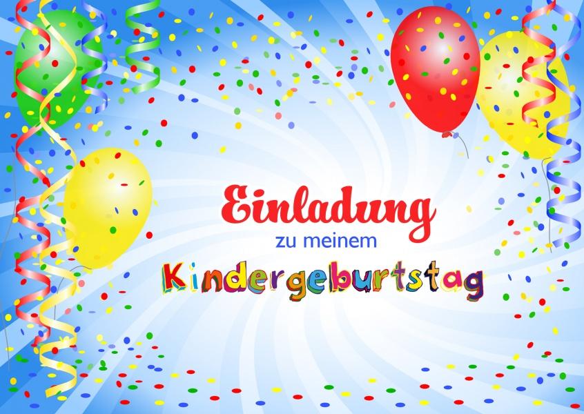 einladung zu meinem kindergeburtstag | einladung | echte