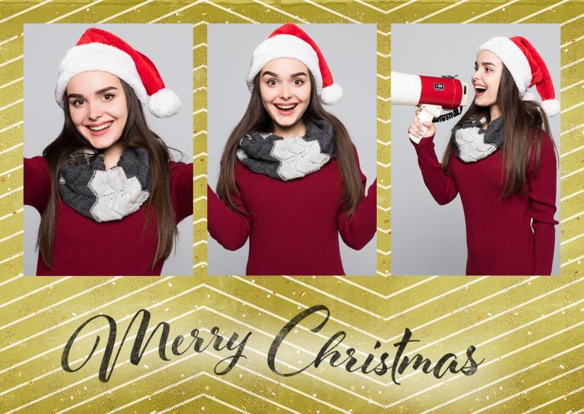 Goldene weihnacht weihnachtskarten echte postkarten - Weihnachtskarten online versenden ...