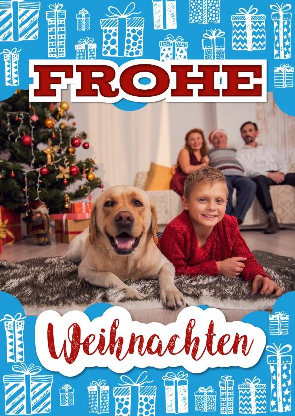 Weihnachten voller geschenke weihnachtskarten echte for Weihnachtskarten online versenden