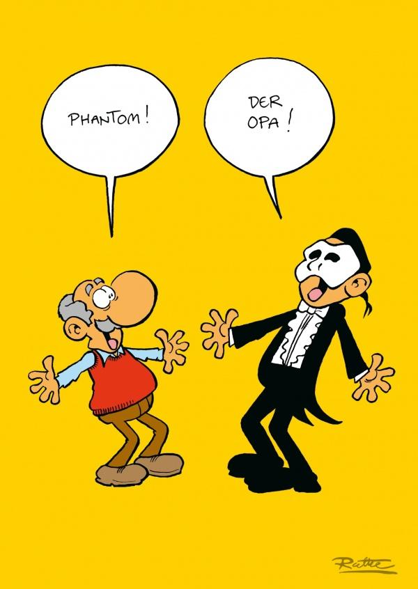 Phantom | Comic & Cartoons | Echte Postkarten online versenden