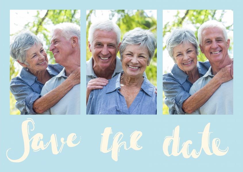 save the date blau einladungskarten echte postkarten online versenden. Black Bedroom Furniture Sets. Home Design Ideas