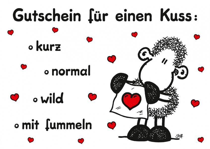 Gutschein für einen Kuss | sheepworld | Echte Postkarten ...
