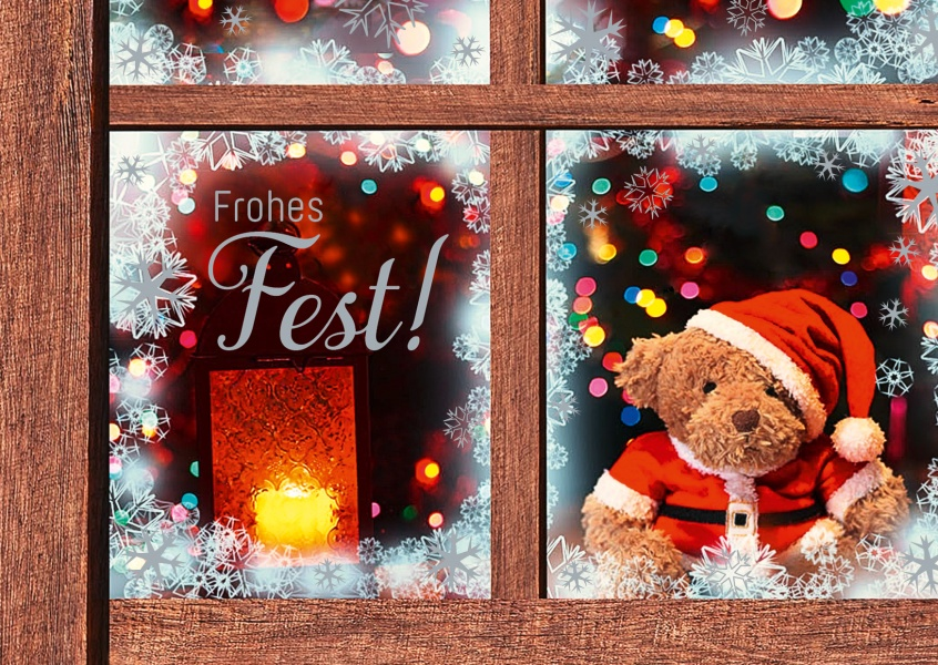 Frohes fest vom fenstersims weihnachtskarten echte - Weihnachtskarten online versenden ...