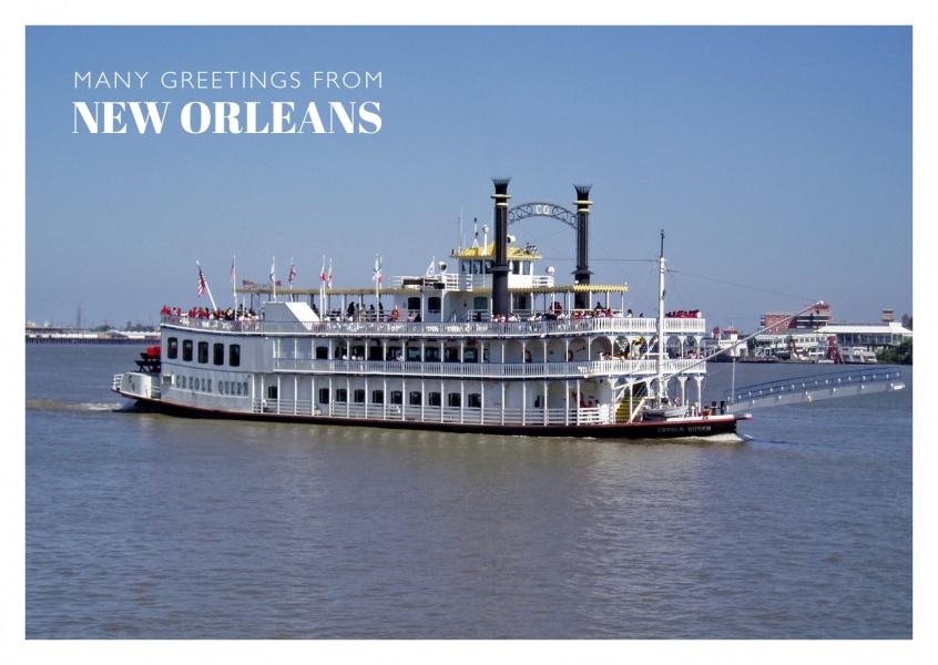 New Orleans Riverboat Saludos Vacacionales Enviar