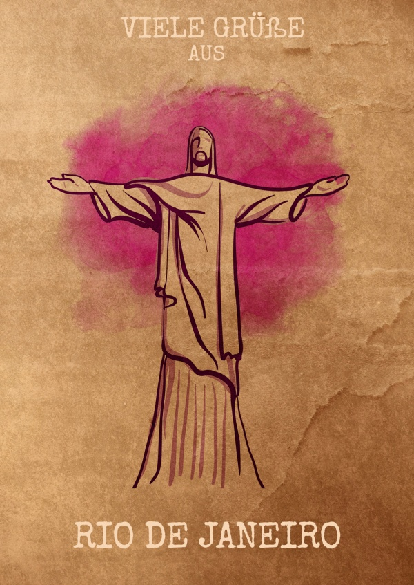 Rio Cristo Redentor illustration