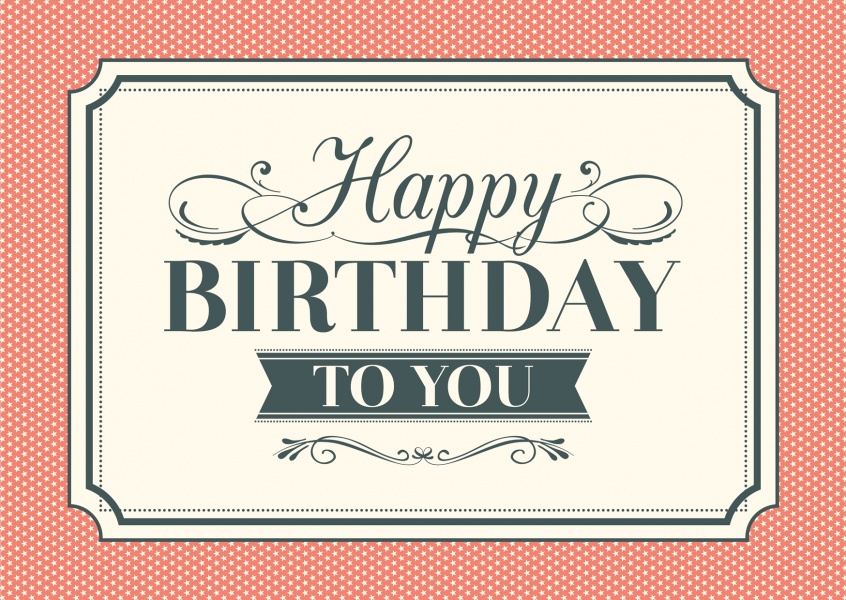 Vintage Style Happy Birthday Cards – Birthday Card Layout