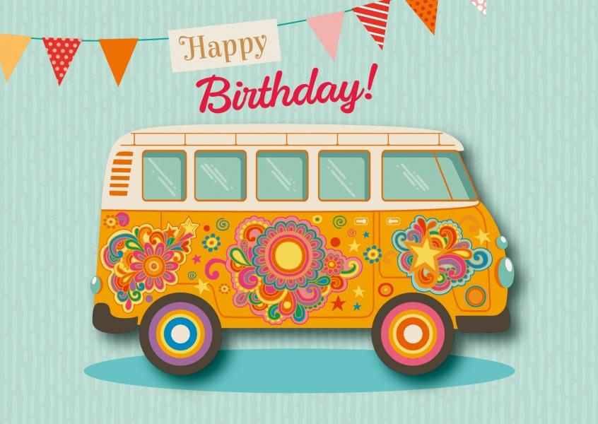 Happy birthday van happy birthday cards send real postcards online