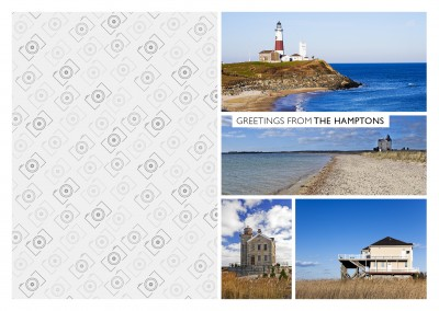 Küstenfotos der Hamptons als Vierer-Collage