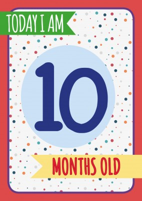 Today I am 10 months old-Lettering