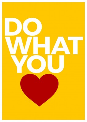 do what you love spruch postkarte