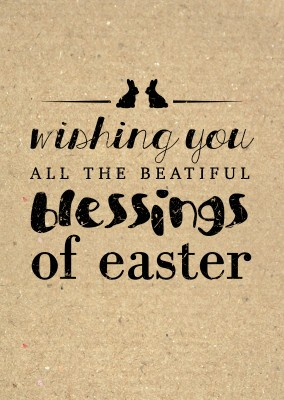 Wishing you all the beautiful blessings of easter in verschiedenen Schriften