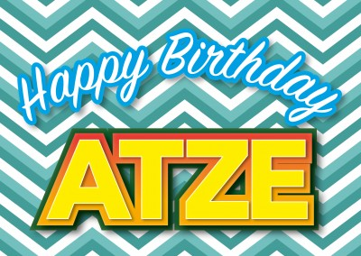 happy birthday atze postkarten layout vorlage