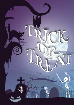 Trick or treat mit Friedhof