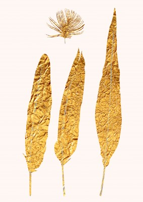 and again and again, more golden Kubistika feathers