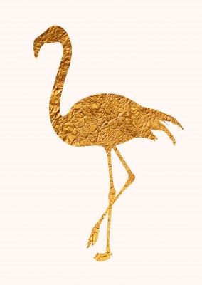 Kubistika golden Flamingo
