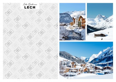 Lech Wintersport Fotocollage