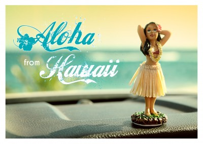 hawaii postkarte