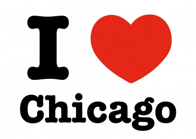 i love chicago postkarte