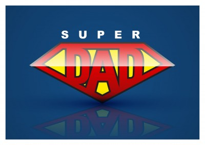 Super Dad zum Vatertag in Superman Optik