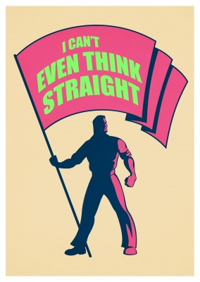 Postkarte lustiger Spruch I can´t even think straight gay