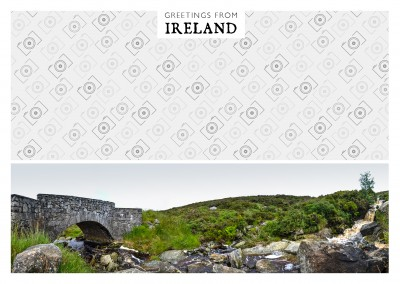 panorama foto von wicklow bridge in irland