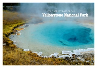 foto von biscuit basin im yellowstone national park