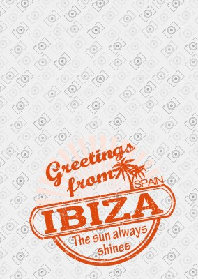 ibiza stempel in rot sun always shines