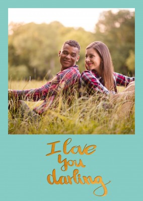 Personalisierbare Liebes Postkarte mit I love you darling Text