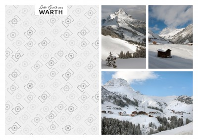 Warth Skigebiet Fotocollage
