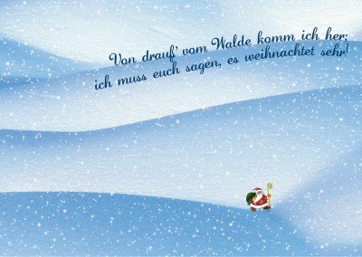 Suche dir deine eigene weihnachtskarte aus mypostcard for Weihnachtskarten mit spruch