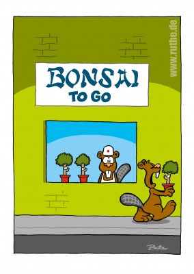 Ruthe-Cartoon, Bonsai2go mypostcard postkartenmotiv postkarte