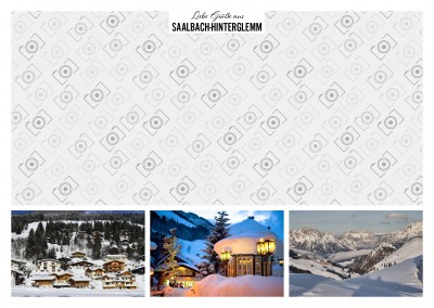 Saalbach-Hinterglemm Winter Fotocollage