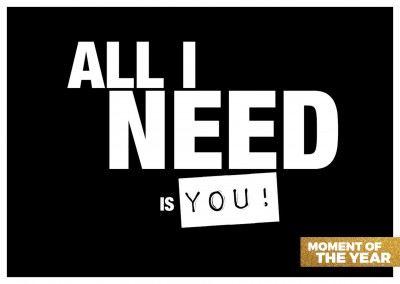 spruch all i need is you postkartenmotiv