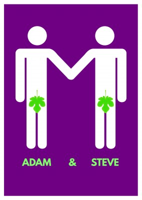 Lustiger Spruch Adam & Steve queer gay