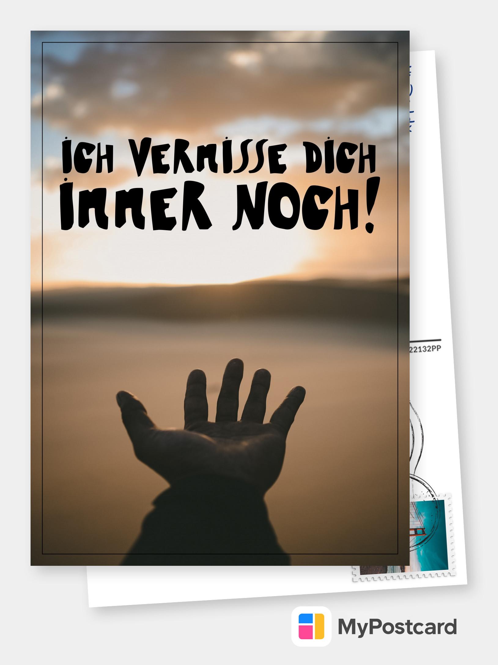ICH VERMISSE DICH IMMER NOCH! | Liebeskarten & Sprüche 🌹💌